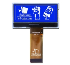 2 inch LCD Display 160x64 Serial SPI Graphic Module ,ST7528,White on Blue ERC16064SBSF-1